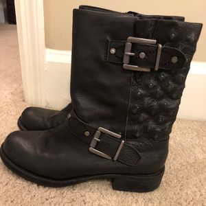 Sam Edelman short black boots with buckles 6.5